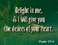 Delight in me